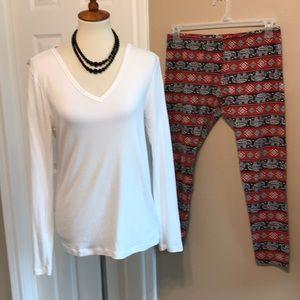 Elephant Print leggings & tunic tee outfit Gap +